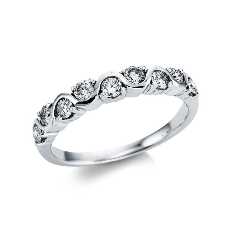 18 kt fehérarany  9 gyémánttal 1W861W853-1