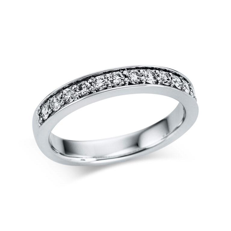 18 kt fehérarany félig köves eternity 14 gyémánttal 1W843W853-1