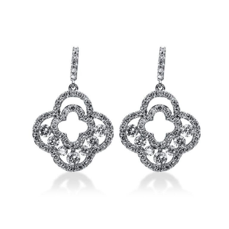 18 kt fehérarany fülbevaló 120 gyémánttal 2H372W8-1