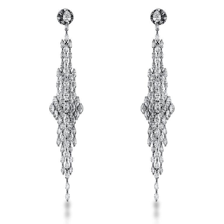 18 kt fehérarany fülbevaló 122 gyémánttal 2K283W8-1