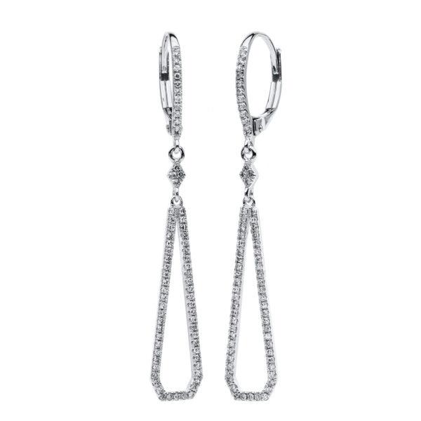 18 kt fehérarany fülbevaló 136 gyémánttal 2C564W8-2