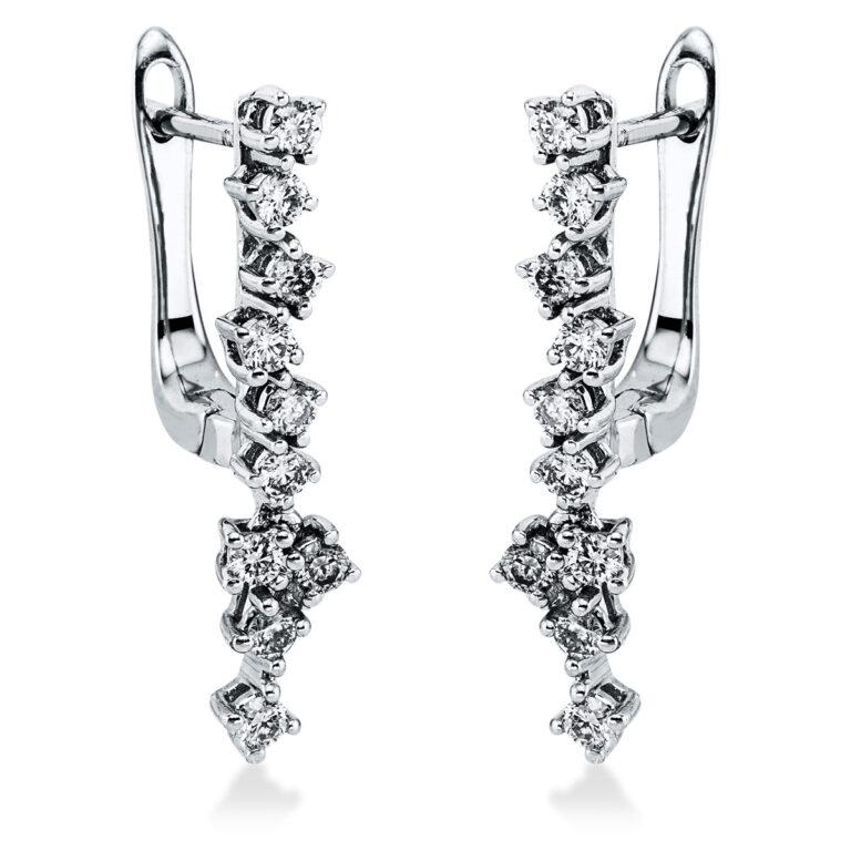 18 kt fehérarany fülbevaló 20 gyémánttal 2K270W8-1