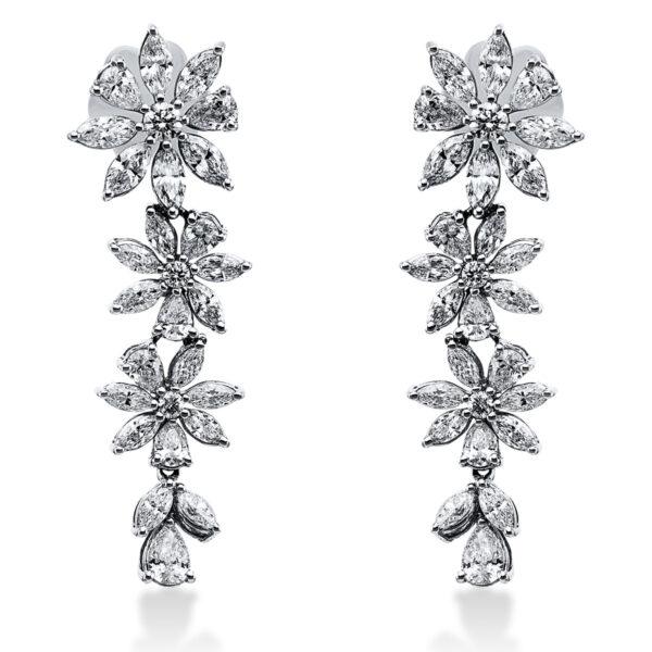 18 kt fehérarany fülbevaló 56 gyémánttal 2G889W8-2