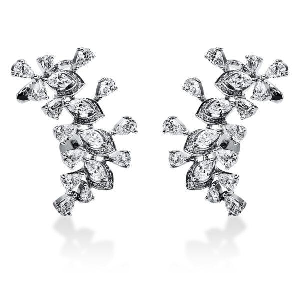 18 kt fehérarany fülbevaló 74 gyémánttal 2J056W8-1