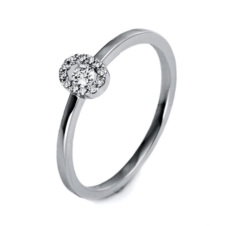 18 kt fehérarany illúzió 13 gyémánttal 1O507W855-9