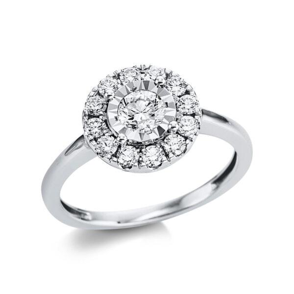 18 kt fehérarany illúzió 14 gyémánttal 1W814W854-1