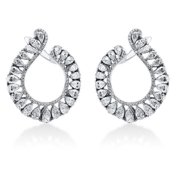 18 kt fehérarany karika és huggie 153 gyémánttal 2J994W8-1