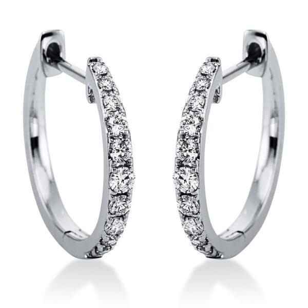 18 kt fehérarany karika és huggie 22 gyémánttal 2J985W8-1