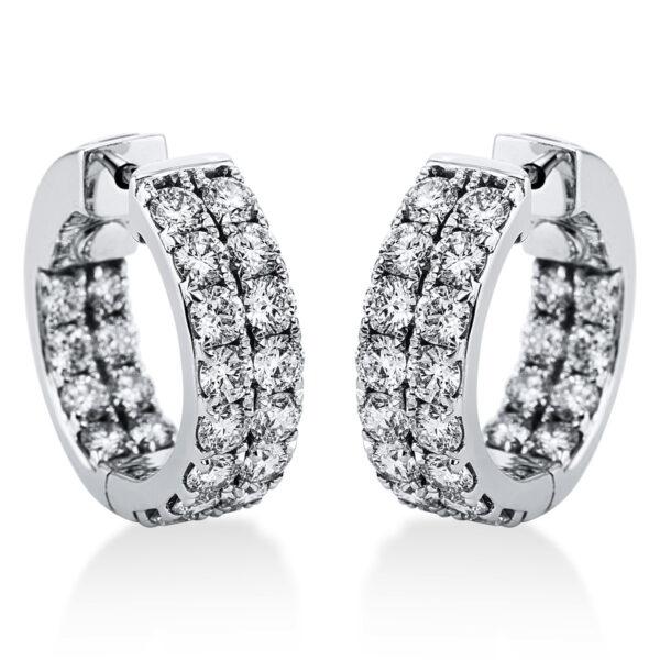 18 kt fehérarany karika és huggie 48 gyémánttal 2J210W8-2