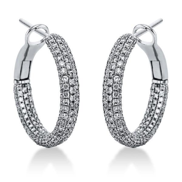 18 kt fehérarany karika és huggie 506 gyémánttal 2J992W8-1