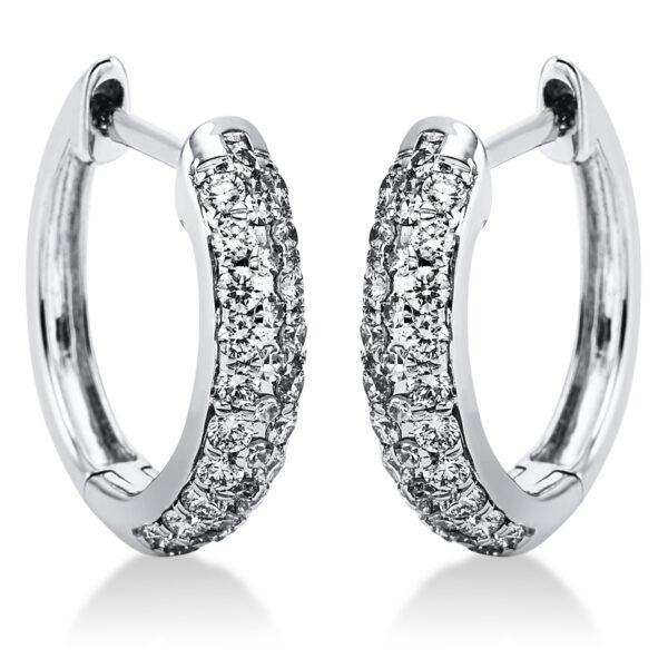 18 kt fehérarany karika és huggie 62 gyémánttal 2K082W8-1