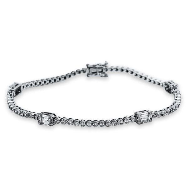 18 kt fehérarany karkötő 104 gyémánttal 5C288W8-1