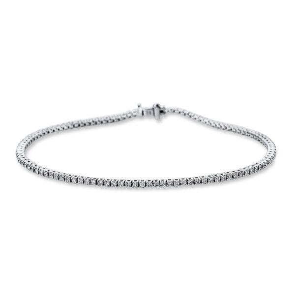 18 kt fehérarany karkötő 108 gyémánttal 5C180W8-1