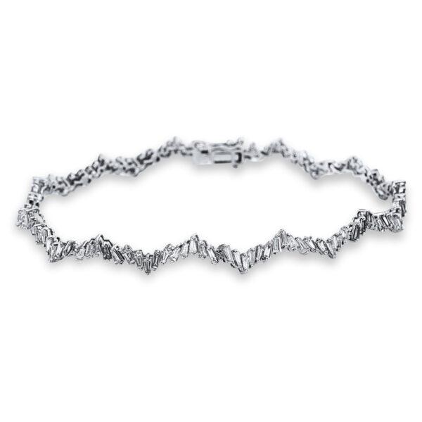 18 kt fehérarany karkötő 110 gyémánttal 5C293W8-1