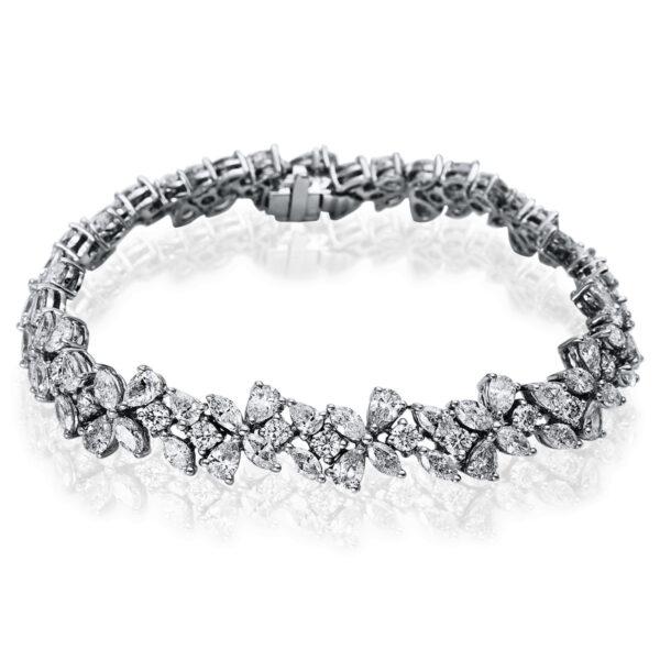 18 kt fehérarany karkötő 112 gyémánttal 5B407W8-1