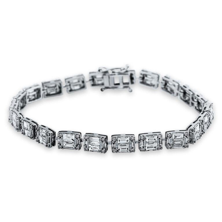 18 kt fehérarany karkötő 176 gyémánttal 5C296W8-1