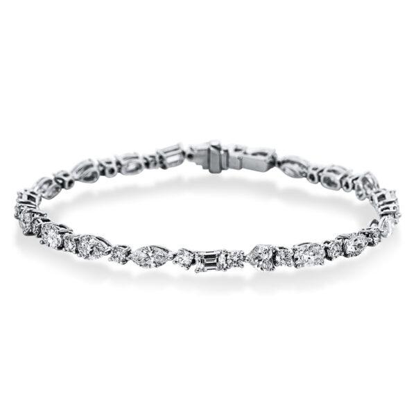 18 kt fehérarany karkötő 20 gyémánttal 5C195W8-1