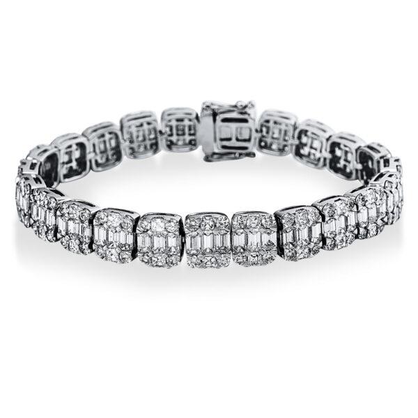 18 kt fehérarany karkötő 212 gyémánttal 5C266W8-1