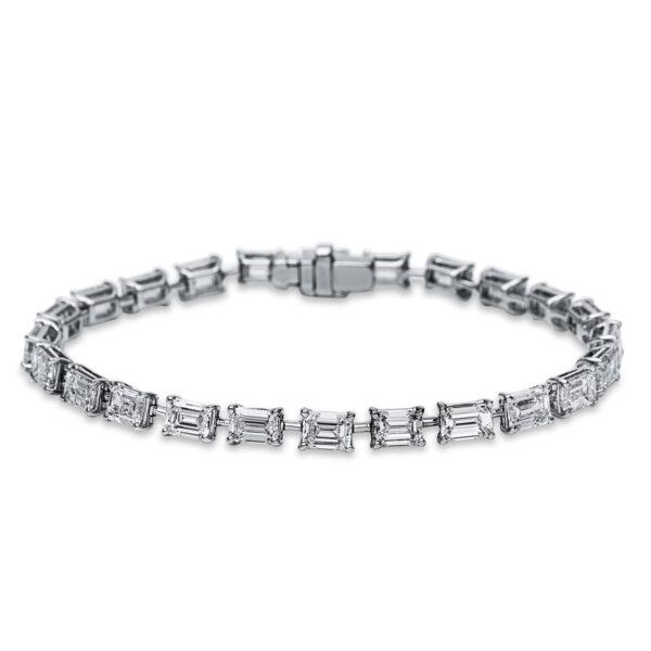 18 kt fehérarany karkötő 24 gyémánttal 5B898W8-1