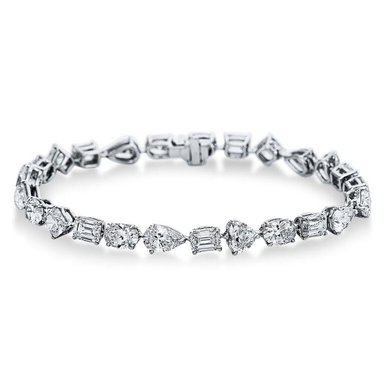 18 kt fehérarany karkötő 25 gyémánttal 5C253W8-1