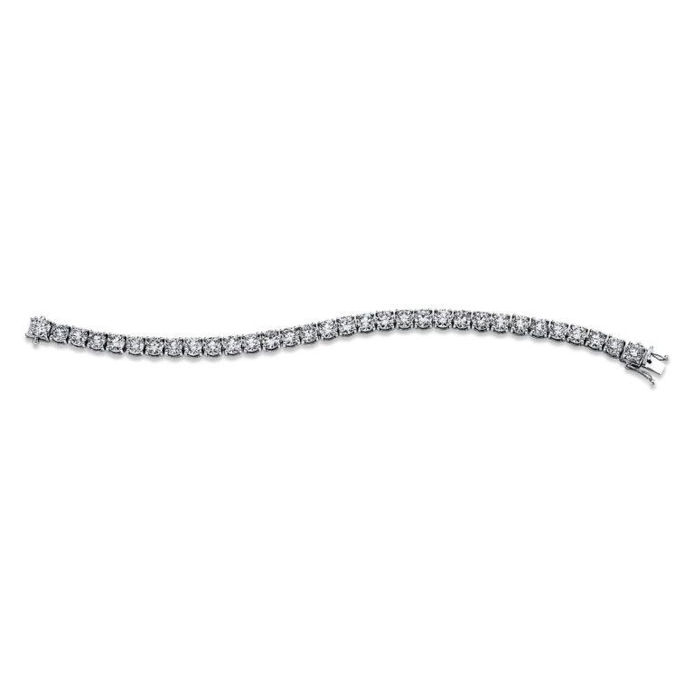 18 kt fehérarany karkötő 32 gyémánttal 5C313W8-1