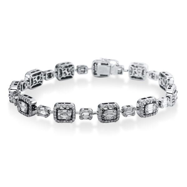 18 kt fehérarany karkötő 418 gyémánttal 5C265W8-1