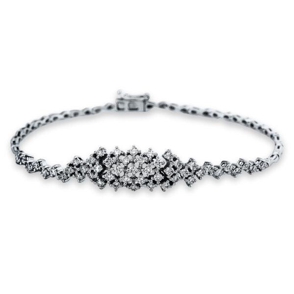 18 kt fehérarany karkötő 49 gyémánttal 5C285W8-1
