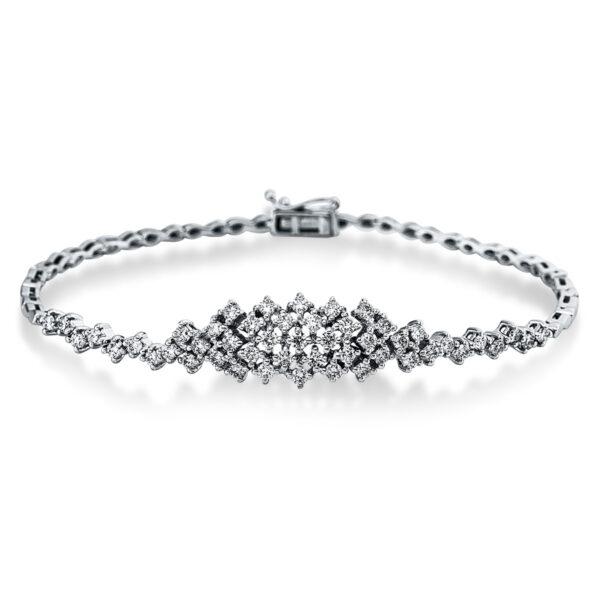 18 kt fehérarany karkötő 49 gyémánttal 5C299W8-1
