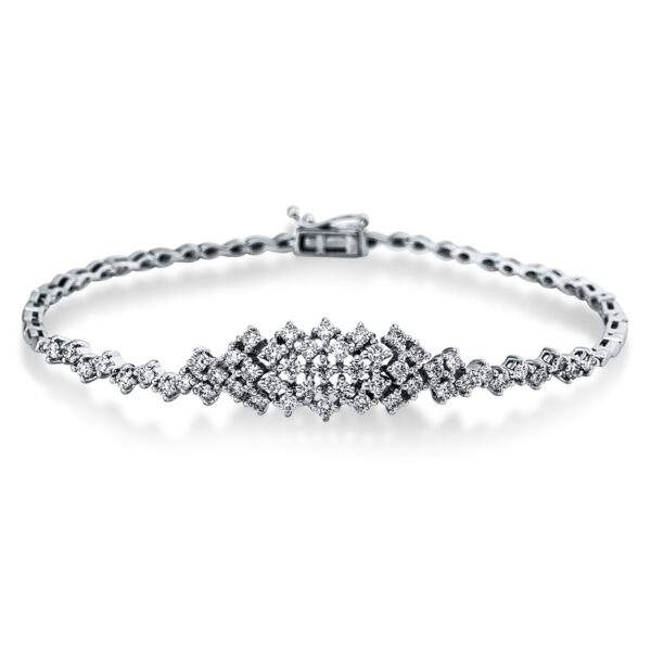 18 kt fehérarany karkötő 49 gyémánttal 5C299W8-2