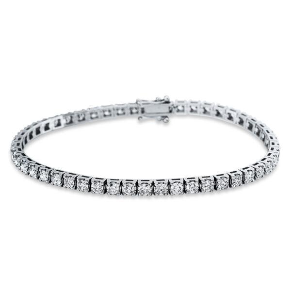 18 kt fehérarany karkötő 49 gyémánttal 5C322W8-1