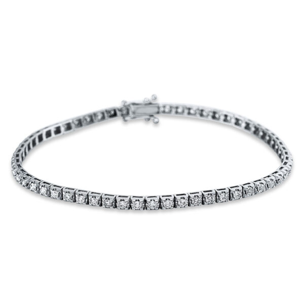 18 kt fehérarany karkötő 58 gyémánttal 5C320W8-1