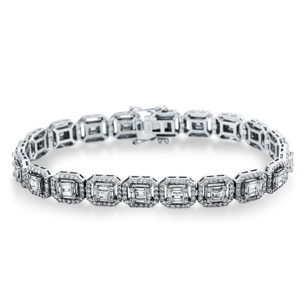 18 kt fehérarany karkötő 580 gyémánttal 5C047W8-3