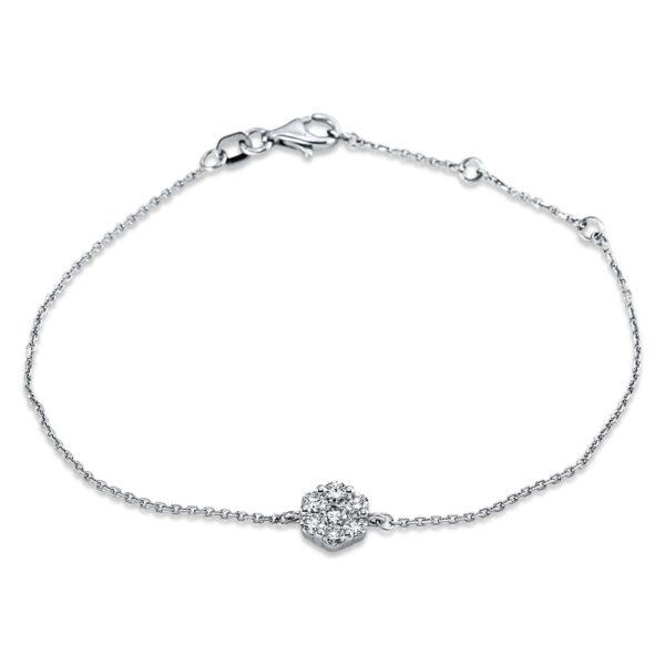 18 kt fehérarany karkötő 7 gyémánttal 5C309W8-1