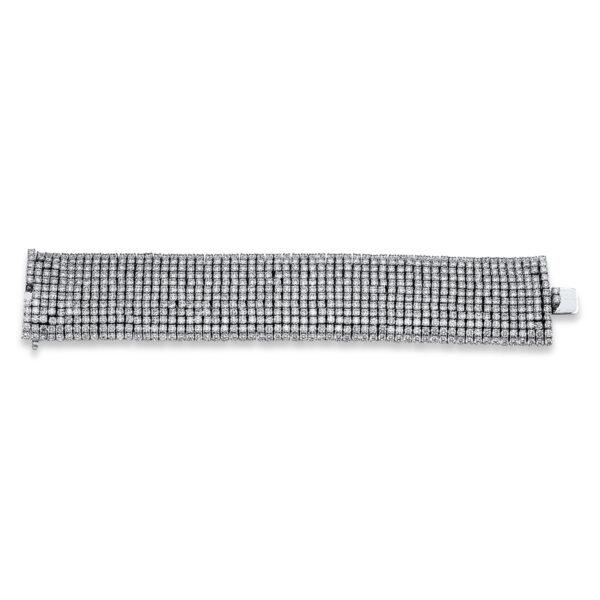 18 kt fehérarany karkötő 732 gyémánttal 5C262W8-1