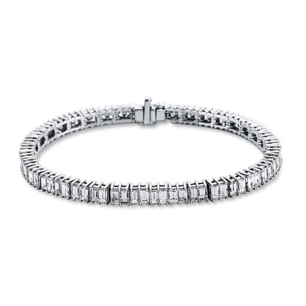 18 kt fehérarany karkötő 76 gyémánttal 5C217W8-1