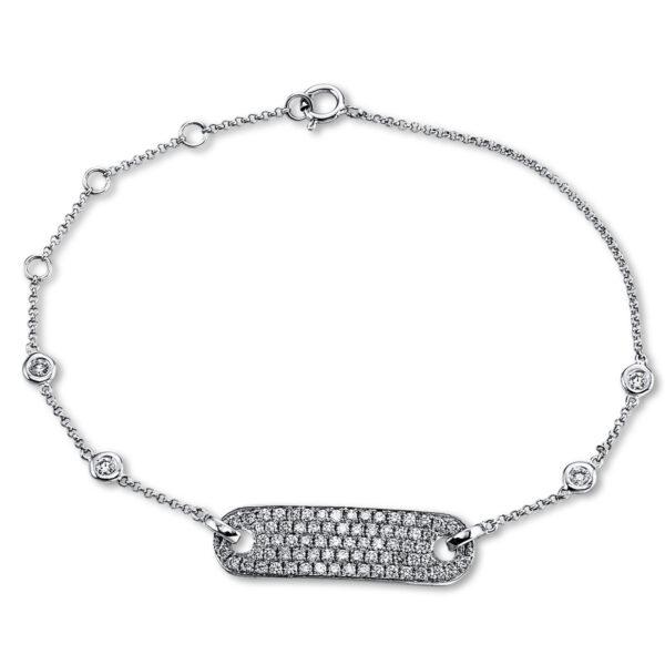 18 kt fehérarany karkötő 78 gyémánttal 5C220W8-1