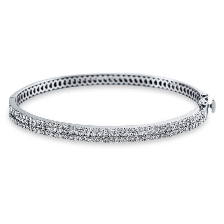 18 kt fehérarany karperec 140 gyémánttal 6A623W8-1