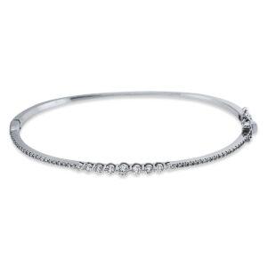 18 kt fehérarany karperec 51 gyémánttal 6A624W8-1