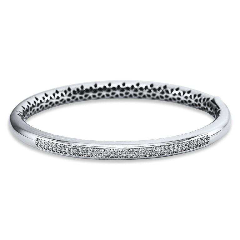 18 kt fehérarany karperec 80 gyémánttal 6A625W8-1