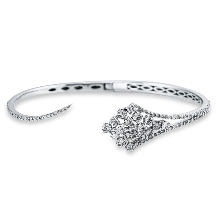 18 kt fehérarany karperec 91 gyémánttal 6A626W8-1