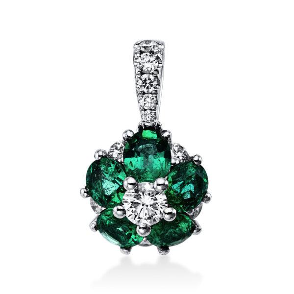 18 kt fehérarany medál 11 gyémánttal