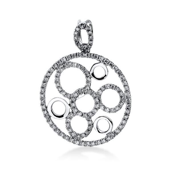 18 kt fehérarany medál 112 gyémánttal 3E259W8-1