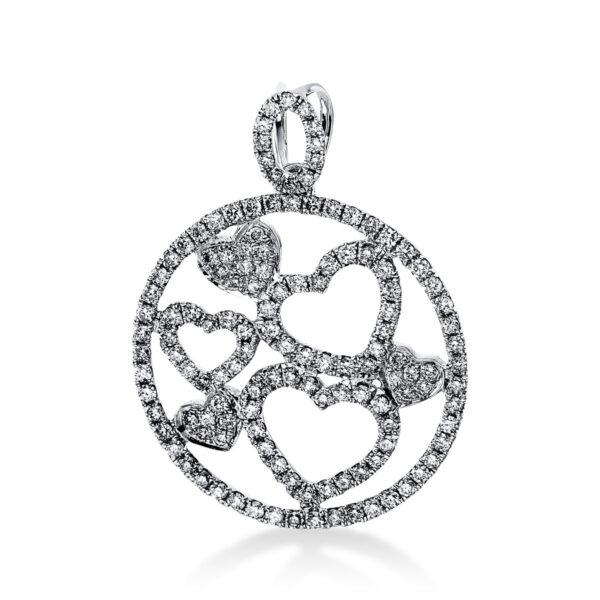 18 kt fehérarany medál 133 gyémánttal 3E255W8-1