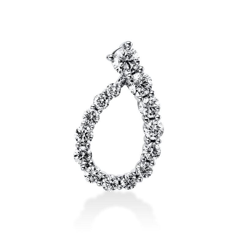 18 kt fehérarany medál 14 gyémánttal 3E251W8-1
