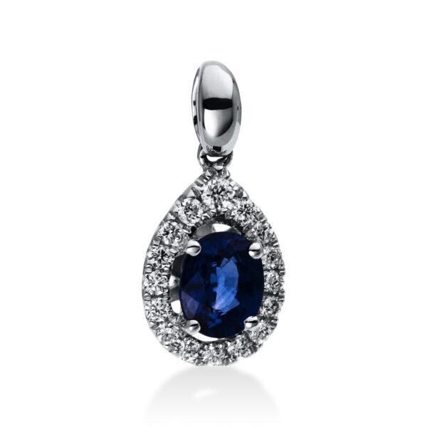 18 kt fehérarany medál 16 gyémánttal