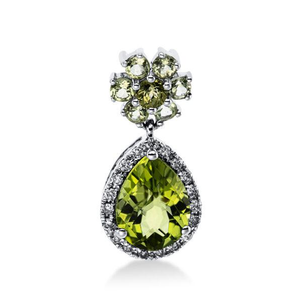 18 kt fehérarany medál 18 gyémánttal