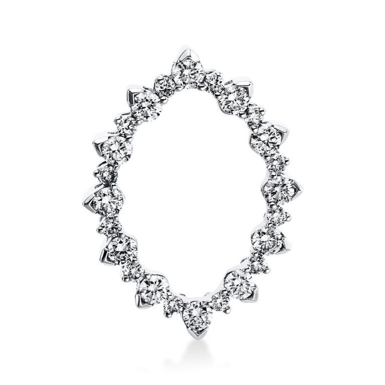 18 kt fehérarany medál 24 gyémánttal 3E266W8-1