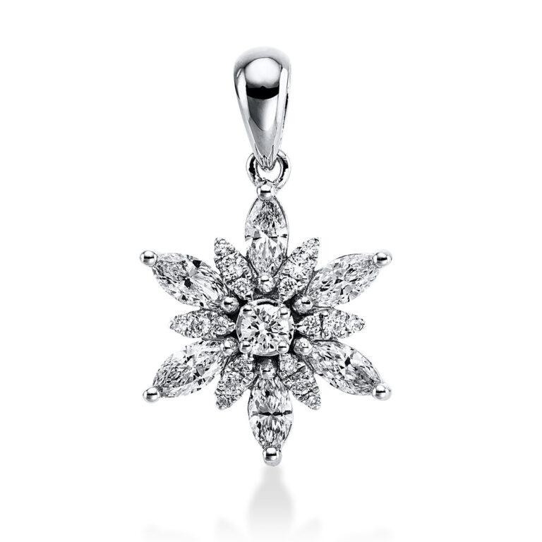 18 kt fehérarany medál 25 gyémánttal 3E271W8-1