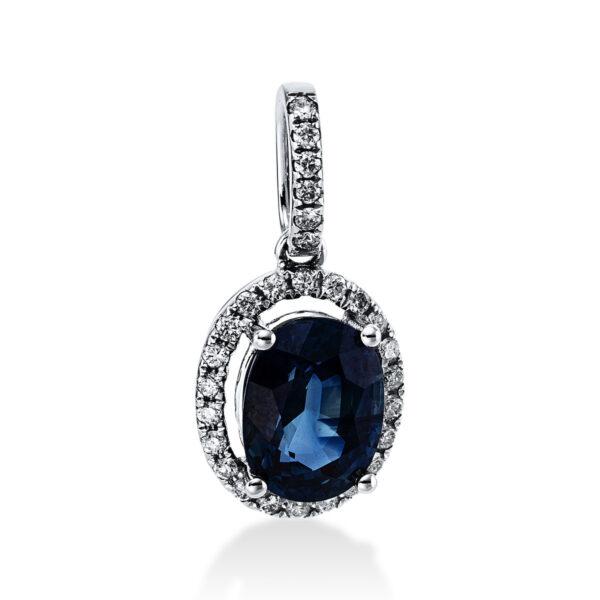 18 kt fehérarany medál 28 gyémánttal