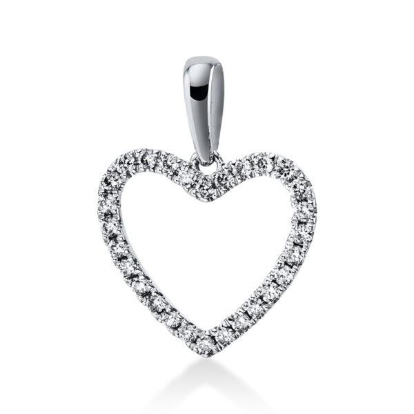 18 kt fehérarany medál 28 gyémánttal 3E276W8-2